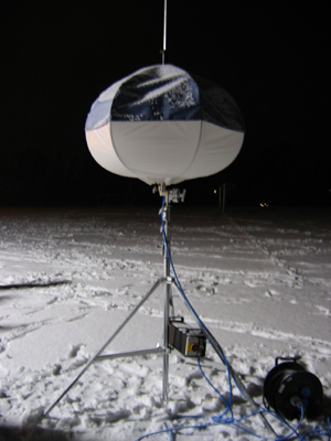 So sieht ein POWERMOON-Ballon im ausgeschalteten Zustand aus.