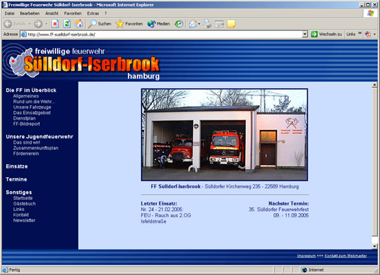 Die neue Homepage der FF Sülldorf-Iserbrook