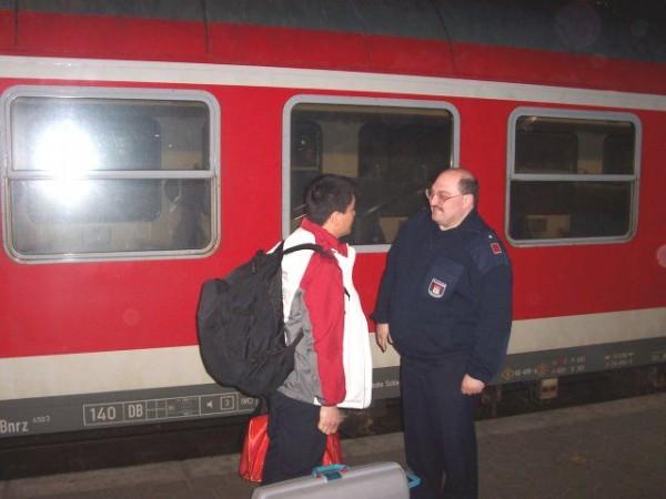 Unser Gast erreicht die Hansestadt. Willkommen in Hamburg