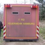 In diesem Container wurde die Sprengladung gezündet. Durch die kleinen Schaufenster aus Panzerglas kann man der Sprengung zuschauen.