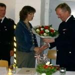 Das Engagement bei der Freiwilligen Feuerwehr geht nicht ohne die Unterstützung durch den Partner! Ein Dankeschön an Angela Harden.