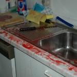 Die Küche der FF Lurup nach Durchlauf einiger Rettungsdienstlagen arterielle Blutung ;-)))...
