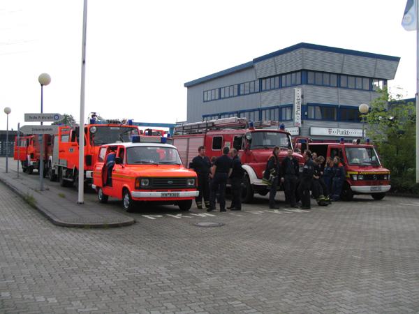 Der Parkplatz des Harburger Verkehrsamtes am Großmoordamm.