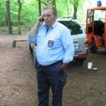 Der JfW Eckhard Leurs beim Koordinieren.
