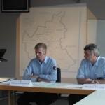 Pressekonferenz mit Karsten Dabelstein S5 (links, Presse- und Medienarbeit)und Michael Henning S4 (Versorgung)