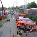 Der Info-Stand der Freiwilligen Feuerwehr Harburg.  Foto: Rindt