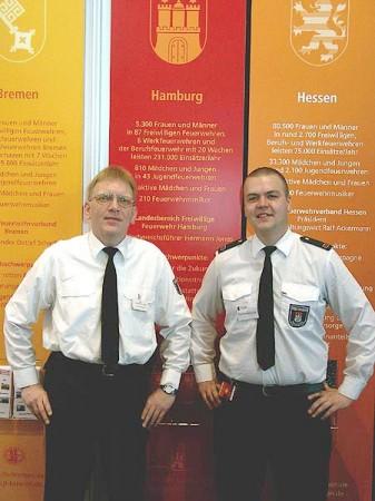 Matthias Molzahn (FF Rönneburg) und Matthias Proske (FF Billstedt-Horn) vertreten die FF Hamburg auf der Interschutz