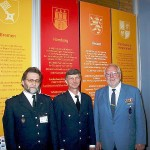 Hermann Jonas (LBF) und Erich Bönnen (LBFG) in Begleitung des Stellvertretenden Bundesvorsitzenden der THW - Helfervereinigung Bernd Balzer