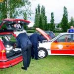 ... aber zuvor wurde das Fahrzeug durch die tatkräftige Hilfe der Schleswig-Holsteiner Kameraden flott gemacht.