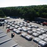Das Zeltlager von oben