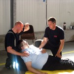 Abnahmeprüfung: Versorgung einer Person mit Herzinfarkt