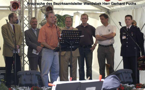 Ansprache des Bezirksamtsleiters Wandsbek Herr Gerhard Fuchs