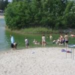 Campingplatzeigener Baggersee
