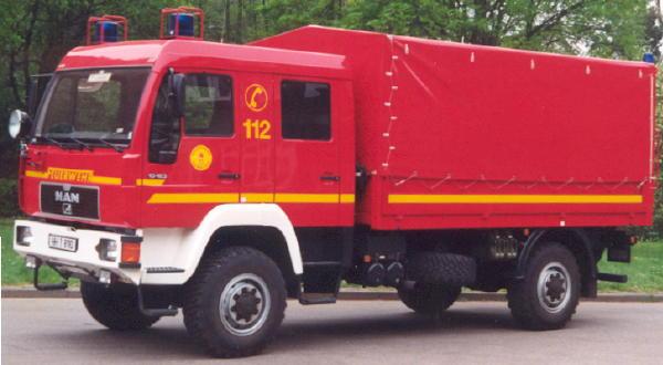 Typfahrzeug LKW Dekon-P; bei der FF Hamburg sind weitere sieben Fahrzeuge im Einsatzdienst.