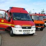 Kurzer Stopp auf der A20 - ABC Erkunder (das Führungsfahrzeug in unserem Verband), Fernmelde Gerätewagen und Dekon P.