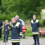 Der Oberbranddirektor der Feuerwehr Hamburg, Dieter Farrenkopf, begrüßt die Teilnehmer, Beobachter und Gäste.