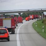 Der Verband auf dem Weg nach Güstrow aus der Sicht des letzten Fahrzeugs.