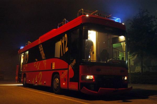 Der neue Befehlswagen an der Einsatzstelle (c)Foto: RüGa