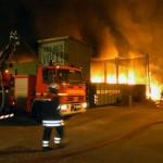 Brandbekämpfung über 25DLK (BF Billstedt) (c) Foto: RüGa