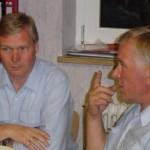 Zufriedene Gesichter: Werner Burmester und Werner Meyer.