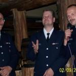 WF A. Hesse (re.)und WFV Th. Schwarz der FF Altona bei der Ansprache