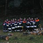 Einige Kameraden der FF-Eißendorf nach 12 Stunden arbeit.