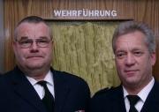 Wehrführer Jörg Plagens (li.) und Wehrführervertreter Ingo Hagemann nach der Wahlversammlung
