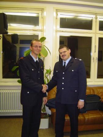 Gratulation vom Wehrführer Matthias Beier