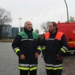 André Jänicke im Gespräch mit dem U-Dienst BRAR Storm <br>© FF Stellingen<br
