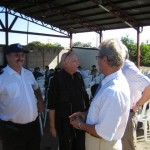 R. Paulsen (JF Hamburg), Dr. Steidinger (Projektleiter in León), deutscher Botschafter in Nicaragua