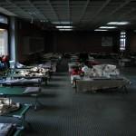 Die nächtliche Unterkunft der Hamburger Kräfte in der Realschule Dannenberg (Foto: B.Wendt)
