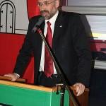 Der Bezirksamtsleiter Bergedorf, Dr. Christoph Krupp, lobte in seiner Rede die sehr gute Zusammenarbeit.<br>Foto: © Peter Becker