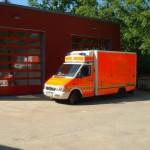 Der Umbau wurde aufgrund der neuen Generation von Rettungswagen notwendig, da dieser in der ursprünglichen Fahrzeughalle nicht untergestellt werden konnte.<br>© FF Eidelstedt<br