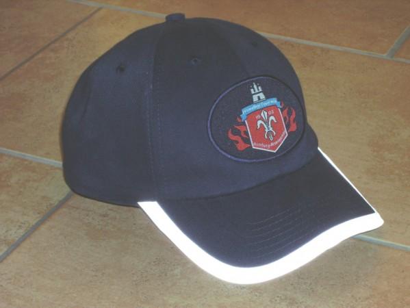 Das Cap mit dem Wappen der Neuengammer Wehr.