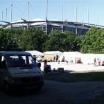 Behandlungsplatz Arena Hamburg. [TS]