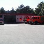 Unterstützung der Transportlogistik, hier am Feuerwehrgerätehaus der FF Stellingen. [TS]