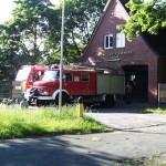 Unterstützung der Transportlogistik, hier am Feuerwehrgerätehaus der FF Lurup. [TS]