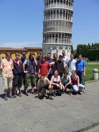Gruppenfoto in Pisa