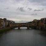 Der Ponte Vecchio, die älteste Brücke über den Arno in Florenz