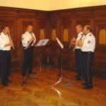 Auch im Saal spielte das Polizeiorchester Hamburg.