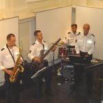 Das Polizeiorchester Hamburg sorgte für die musikalische Untermalung.