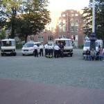 Fahrzeuge der Johaniter (Ortsverband Harburg), der Malteser (Landesverband Hamburg) und des ASB (Ortsverband Bergedorf / Rotenburgsort).