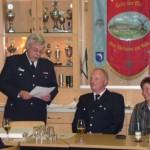 Von links: Wehrführer Wolfgang Bierkarre, Oberbrandmeister Guido Bestier, Kirsten Bestier