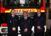 von links: Bereichsführer Bernd Becker, WFV Frank Gruninger, WF Thomas Kirchhoff