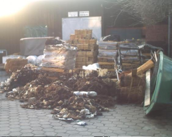 Sisalhanf und andere beschädigte Güter