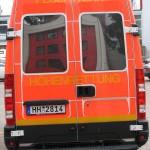 Fahrzeugheck m. verspiegelt beklebten Scheiben (c) MT