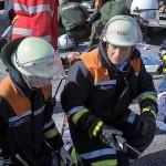 Erstversorgung einer Verletzten