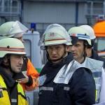 A-Dienst Ulrich Körner bei der Lagebesprechung mit B-Dienst Michael Gihl