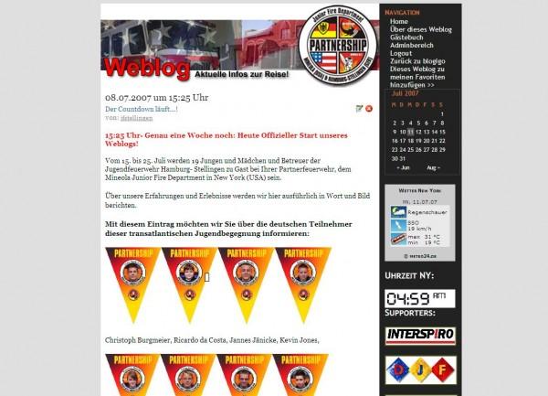 Auf dem eigens eingertichteten Weblog (unter: www.ff-stellingen.de) live dabei sein.