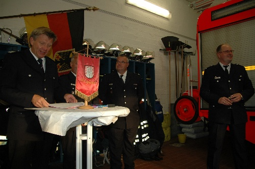 Bereichsführer Bernd Nohdurft nahm die Ehrung vor